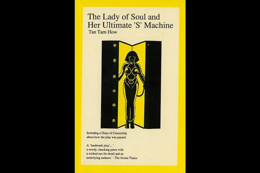 The Lady Of Soul, a political satire by Tan Tarn How, was first produced by TheatreWorks in 1993 and featured Lut Ali, Lim Kay Tong and Jacintha Abisheganaden. It was subjected to a lot of censorship, and then no censorship. -- PHOTO: SIRIUS BOOKS