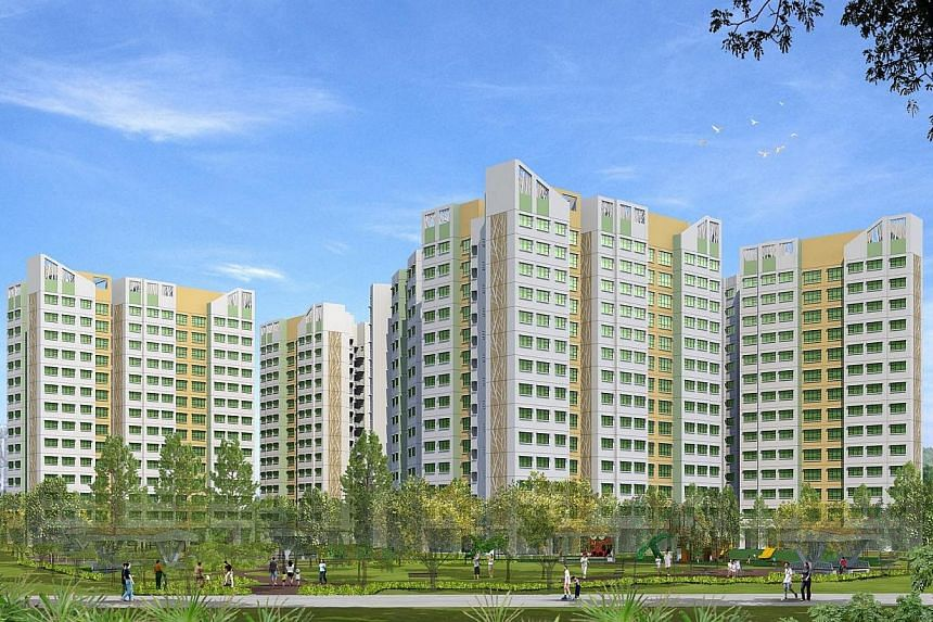New BTO launches in November 2014. Blossom Spring at Yishun. -- PHOTO: HDB