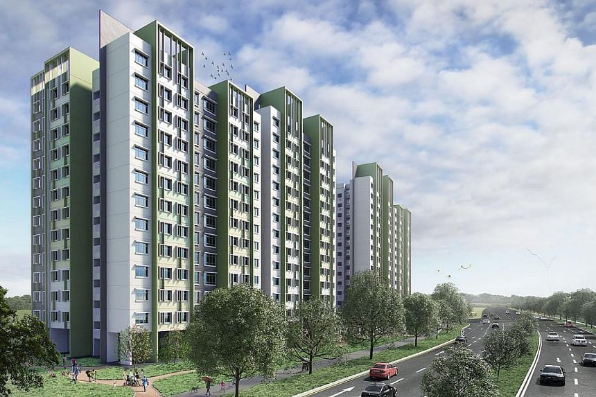 New BTO launches in November 2014. Meadow Spring at Yishun. -- PHOTO: HDB