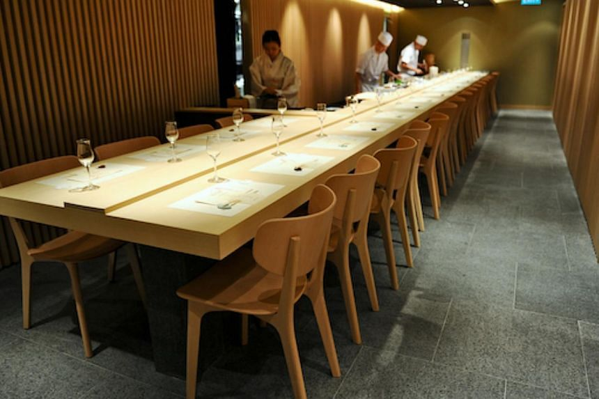An interior view of Hashida Sushi at Mandarin Gallery. -- PHOTO: HASHIDA SUSHI