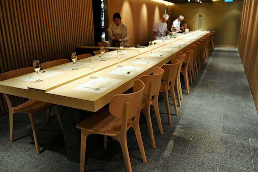 An interior view of Hashida Sushi at Mandarin Gallery. -- PHOTO: HASHIDA SUSHI