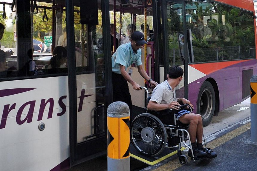 SBS Transit will roll out six new wheelchair-accessible bus services on Dec 3 to mark International Day of Persons with Disabilities. -- PHOTO: ST FILE