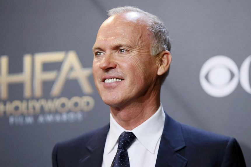 Actor Michael Keaton, winner of the career achievement award, at the Hollywood Film Awardson Nov 14, 2014. In Birdman, he plays a washed-up actor as he embarks on a theatre comeback. -- PHOTO: REUTERS
