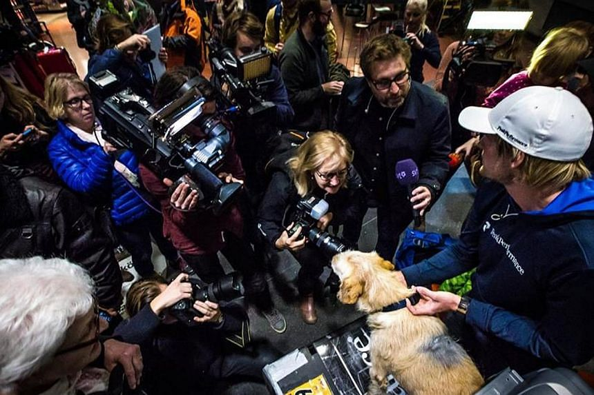 Arthur's incredible journey from the rainforest of Ecuador to his new home in Sweden captures the attention of the media.-- PHOTO: TEAM PEAK PERFORMANCE