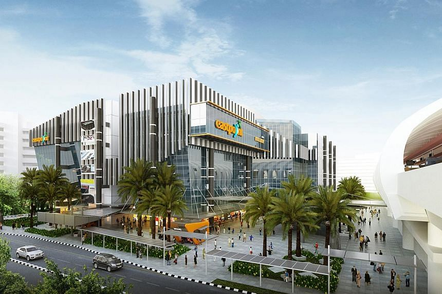 An artist's impression of the new facade ofEastpoint Mall. -- PHOTO: EASTPOINT MALL