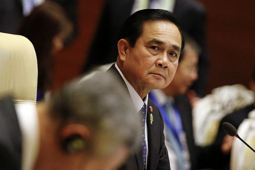 Thailand's Prime Minister Prayuth Chan-ocha attends the plenary session of the 25th ASEAN summit at Myanmar International Convention Centre in Naypyitaw on Nov 12, 2014. -- PHOTO: REUTERS