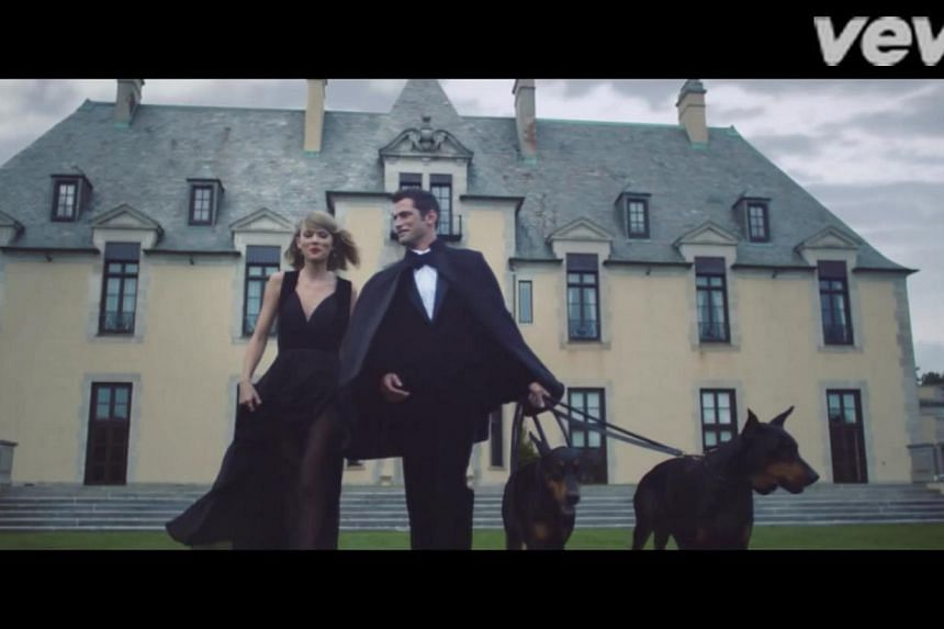 With its plunging neckline and sheer skirt, the gown is dangerously close to risque. But on the svelte Swift, it looks all classy.-- PHOTO: TAYLOR SWIFT/YOUTUBE