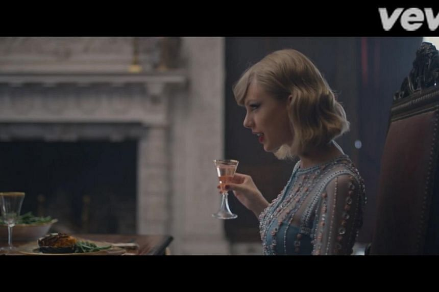 She brings out a polished demeanour in this baby blue embellished gown befitting a princess.-- PHOTO: TAYLOR SWIFT/YOUTUBE