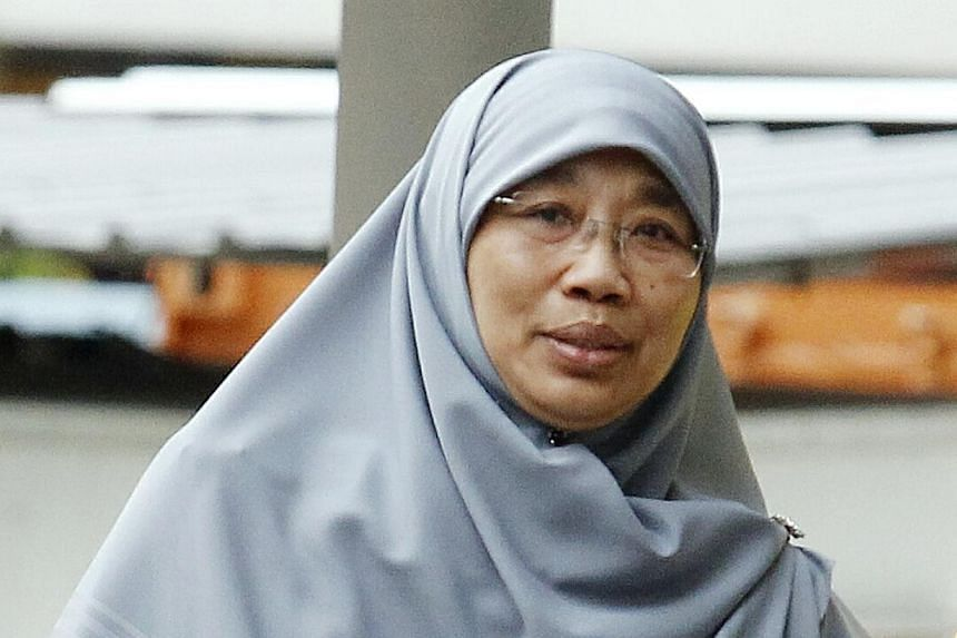 Siti Hadijah Mohamed Sin, 52, was sentenced to 3 weeks' jail for child abuse at My First Skool Childcare Centre.A former part-time teacher with NTUC My First Skool childcare centre was sentenced to three weeks in jail on Thursday for manh