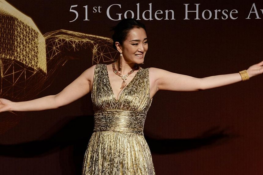 Gong Li's manager has explained her position on the Golden Horse Awards, saying the actress thinks too many judges spoil the film festival. -- PHOTO: AFP