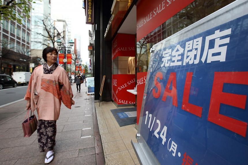 Japan's economy has struggled with demand deficiency since the early 1990s. An April sales tax increase from 5 per cent to 8 per cent has not helped, with the country sinking into a recession last quarter.