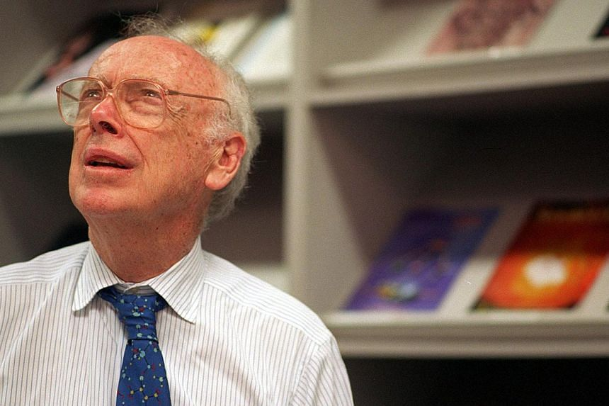 Nobel prize winner James Watson, seen in this 1996 file picture, is to auction off the gold medal he won. -- PHOTO: ST FILE