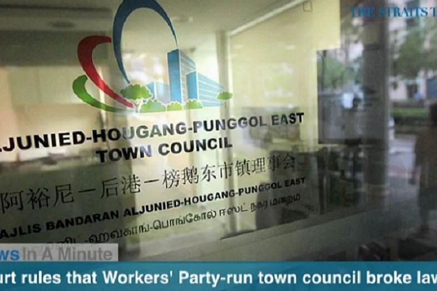 The district court ruled that the Aljunied-Hougang-Punggol East Town Council, run by the Workers' Party, broke the law when it held a Chinese New Year fair without a permit earlier this year.-- SCREENGRAB FROM RAZOR TV