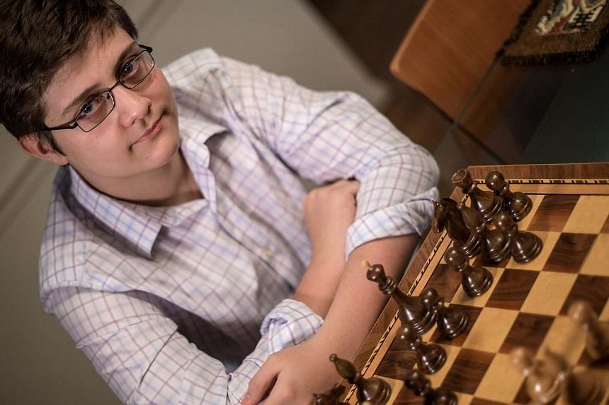 At a tournament in St Louis last weekend, Samuel Sevian won all four of his games to push his World Chess Federation rating past 2,500 points - enough to secure Grandmaster status. -- PHOTO: AFP