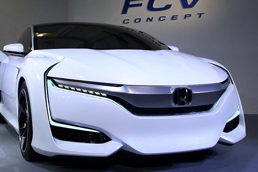 The Honda FCV looks futuristic and emits only water vapour.