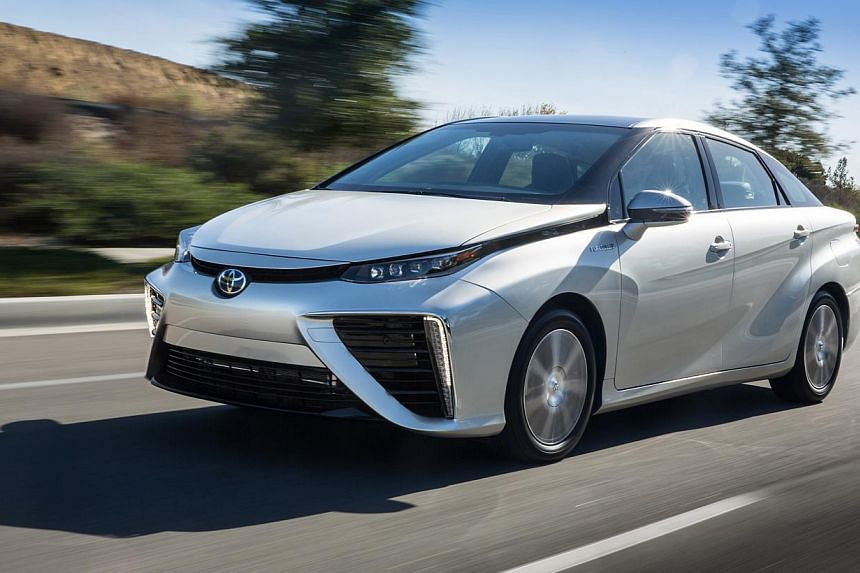 The Mirai, which runs on electricity produced by hydrogen fuel cells, drives like a normal car.