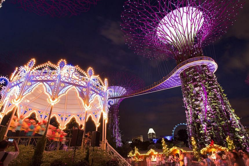 The beautiful Casa Armonica gazebo (left) will provide the stage for a wide variety of performances at Christmas Wonderland @ Gardens by the Bay.-- PHOTO: CHRISTMAS WONDERLAND @ GARDENS BY THE BAY