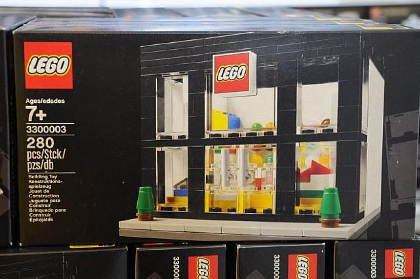 The exclusive miniature Lego Brand Retail New Store Opening (3300003) set. -- PHOTO: LEGO SINGAPORE