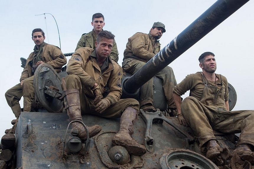 The Brad Pitt war movie Fury was one of a few Sony films leaked online over the weekend, following a cyber-attack on the studio's computer network last week. -- PHOTO: SHAW ORGANISATION
