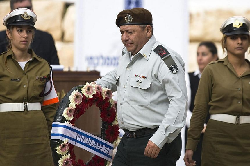 Major-General Gadi Eisenkot attends the annual memorial ceremony for Israel's first prime minister, David Ben-Gurion, in Sde Boker Nov 27, 2014. Israel on Saturday announced the appointment of a new chief of staff of its armed forces, Eisenkot, who h