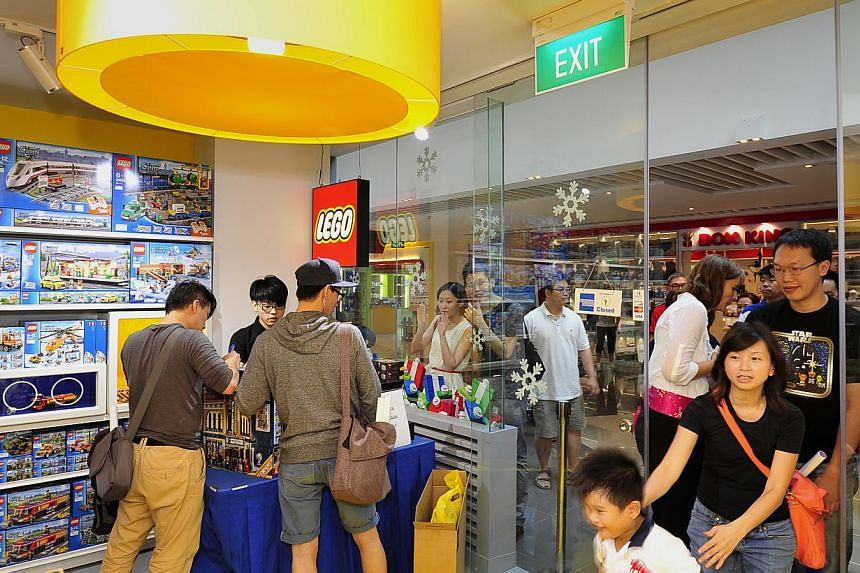 Singapore's first LEGO certified store opened on Saturday, Nov 29, 2014. -- ST PHOTO: DIOS VINCOY JR
