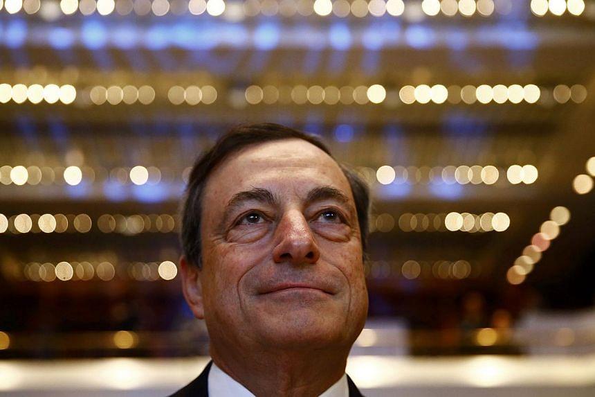 Mario Draghi, President of the European Central Bank (ECB). -- PHOTO: REUTERS