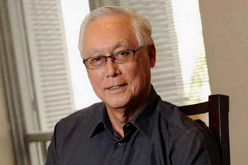 Emeritus Senior Minister Goh Chok Tong has returned to work after a successful operation for prostate cancer a week ago. -- PHOTO: PETIR