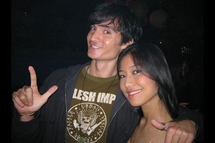 Mr John Langan with Mr Phillip Poon, his business partner in lifestyle group Massive Collective; and during his early clubbing days (above) in Singapore with a friend. -- PHOTO: COURTESY OF JOHN LANGAN