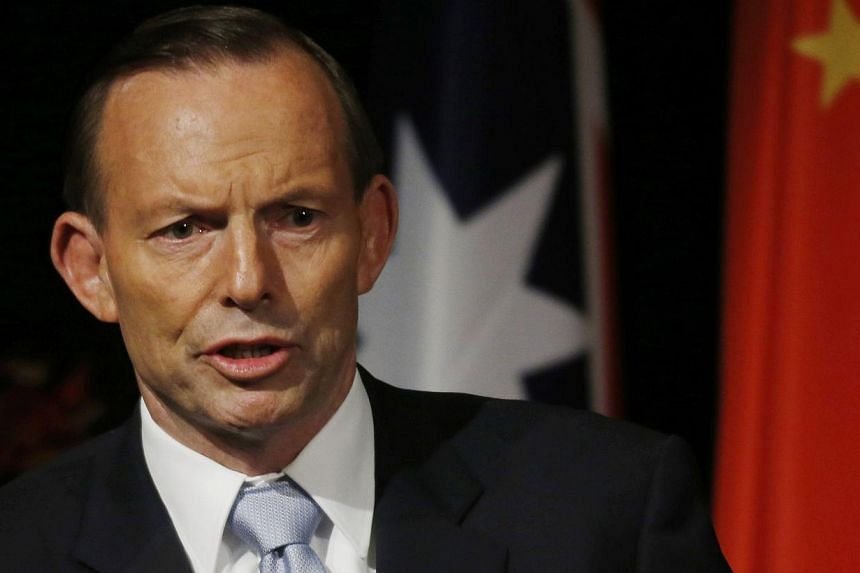 Australian Prime Minister Tony Abbott on Monday opened the door to the use of nuclear energy as Australia faces growing pressure to bring down its greenhouse gas emissions. -- PHOTO: AFP