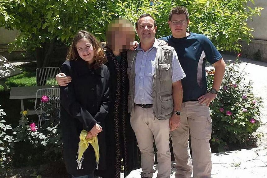 A picture released by the family shows the Groenewald family. Werner Groenewald, 46, head of an education charity (second from right), his son Jean-Pierre, 17 (right), his daughter Rode, 15(left), and one Afghan citizen have been killed in the latest