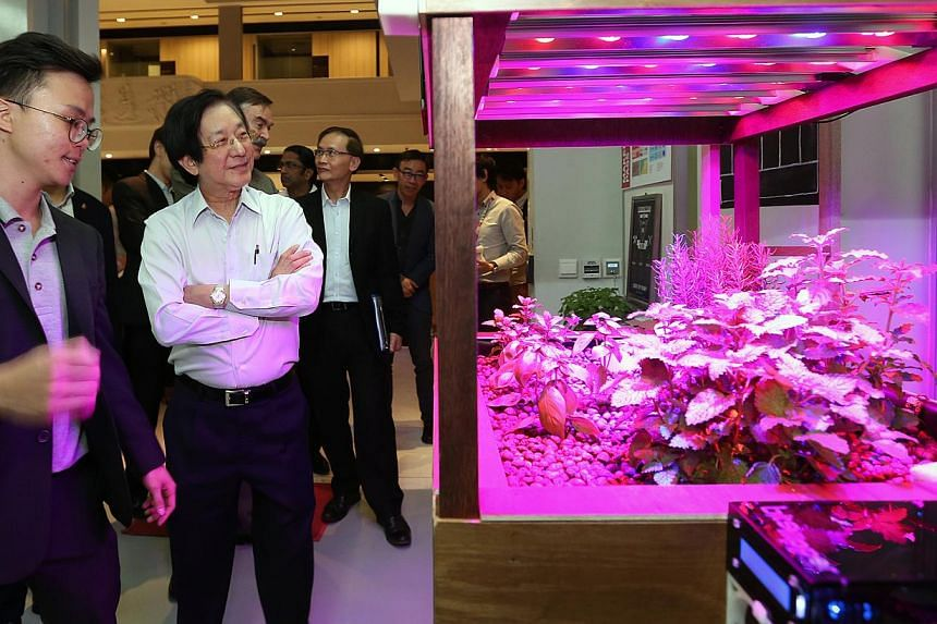 SPRING Singapore and DesignSingapore Council jointly launch the Prototyping Lab at the National Design Centre (NDC) and introduce two assistance schemes to spur innovation. -- ST PHOTO:NEO XIAOBIN