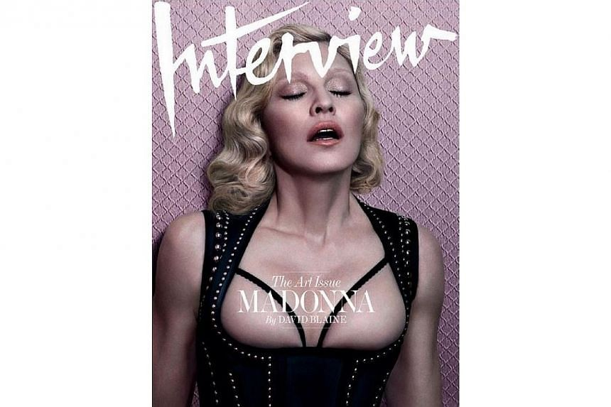 Madonna on the cover of Interview magazine. -- PHOTO: MADONNA/ INSTAGRAM