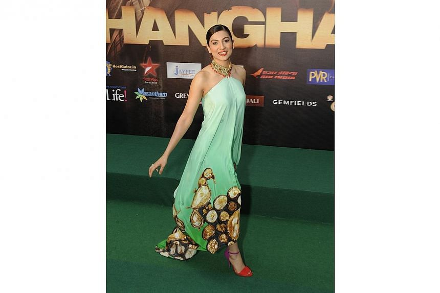 Bollywood actress Gauhar Khan attending the premiere of Bollywood film Shanghai on June 7, 2012.-- PHOTO: ST FILE