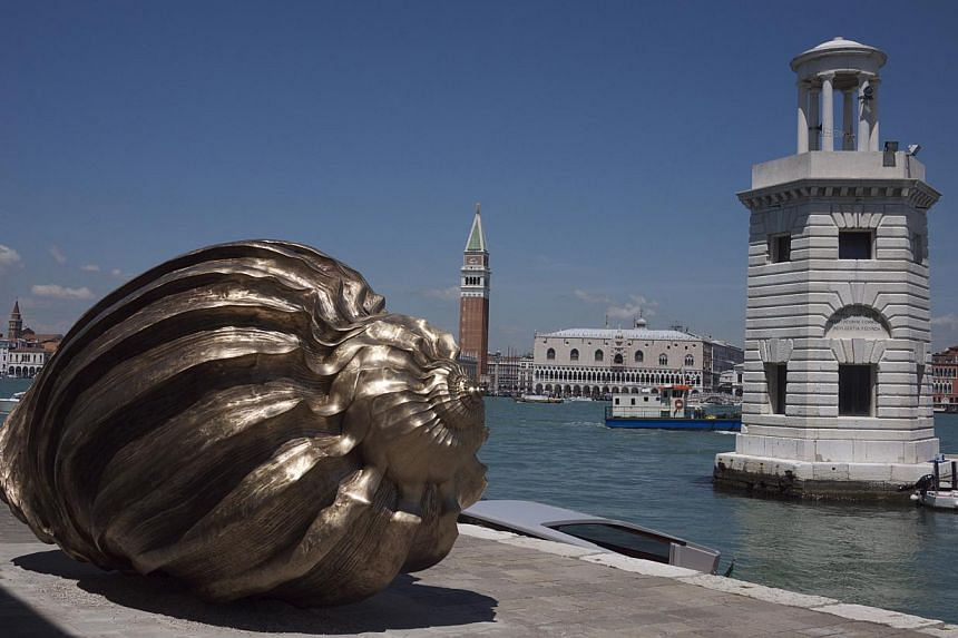 A seashell sculpture by British artist Marc Quinn at last year's Venice Biennale. -- PHOTO: BT FILE