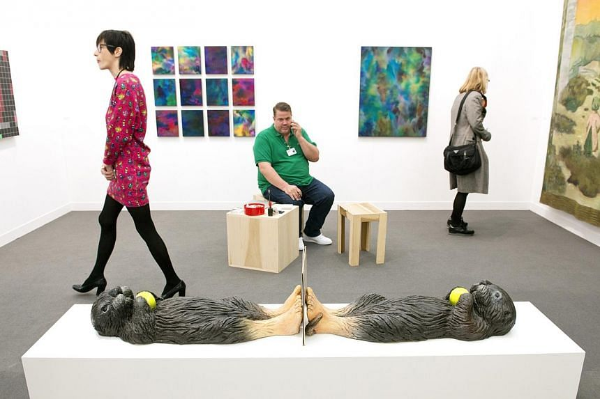 Artworks on display at Frieze London 2014, a contemporary art fair. -- PHOTO: LINDA NYLIND/ FRIEZE