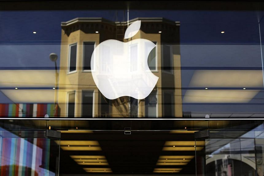 The Apple logo on a retail store in the Marina neighbourhood of San Francisco, California, in this April 23, 2014 file photo. -- PHOTO: REUTERS