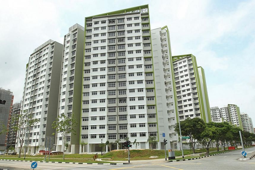 The completed build-to-order (BTO) housing project Green Leaf at Tampines Central 7, finished earlier this year. In the latest round of BTO launches which just ended, pro-family housing policies have proved to be a hit with buyers. -- ST PHOTO: SEAH