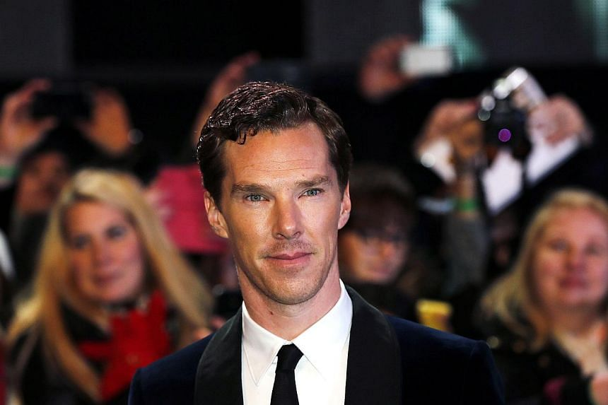 Cast member Benedict Cumberbatch arriving for the world film premiere of The Hobbit: The Battle Of The Five Armies at Leicester Square in central London on Dec 1, 2014. -- PHOTO: REUTERS