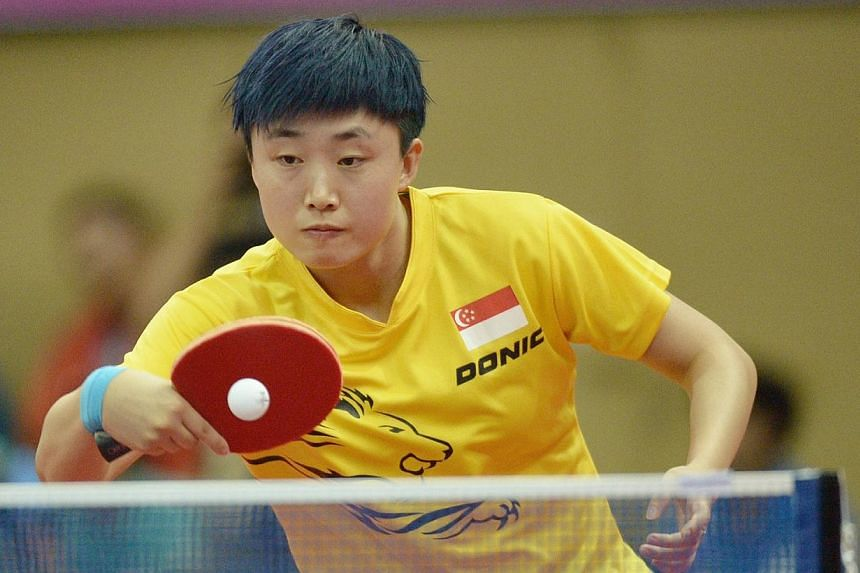Singapore paddler Feng Tianwei has been nominated for the International Table Tennis Federation (ITTF) Female Table Tennis Star award. -- PHOTO: ST FILE