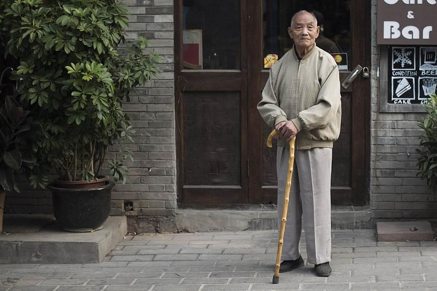 China's government is canvassing for foreign investment in the country's elderly care industry to meet the needs of its greying population. -- PHOTO: AFP