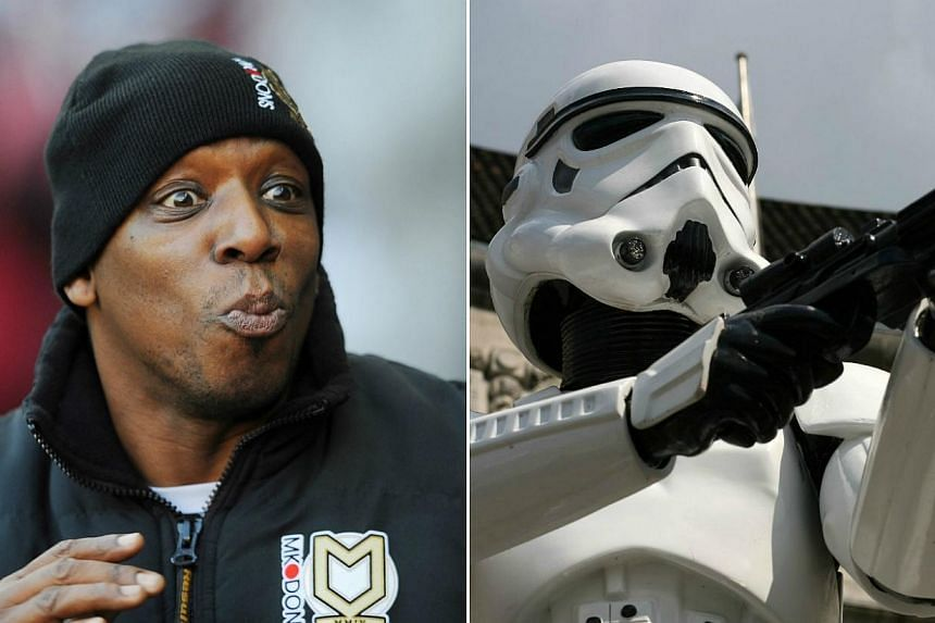 Former Arsenal striker Ian Wright (left) claimed he was rejected for the role of a stormtrooper in the upcoming Star Wars: The Force Awakens. -- PHOTOS: ACTION IMAGES/WIKIMEDIA COMMONS