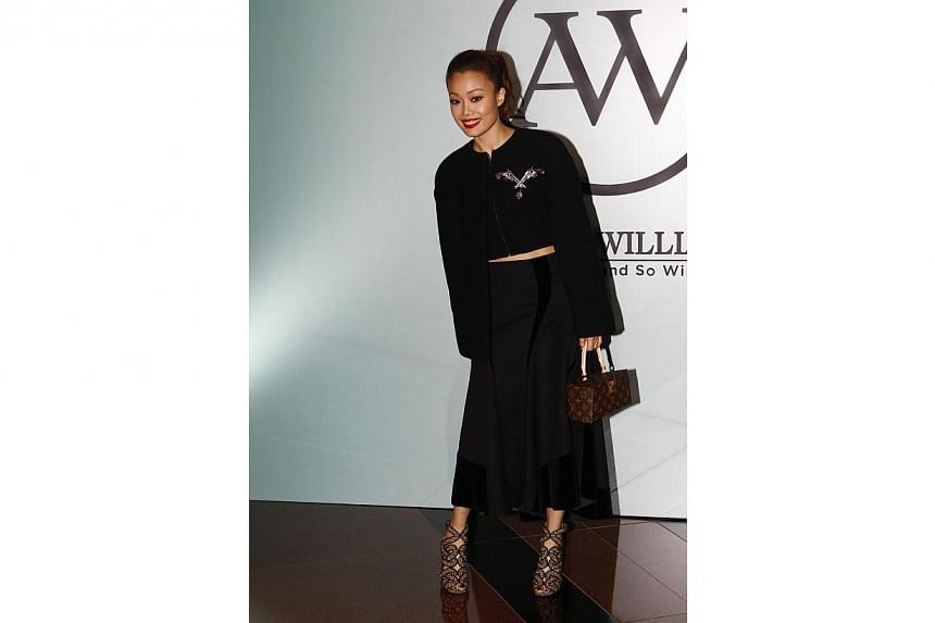 Joey Yung at William So's wedding. -- PHOTO: APPLE DAILY