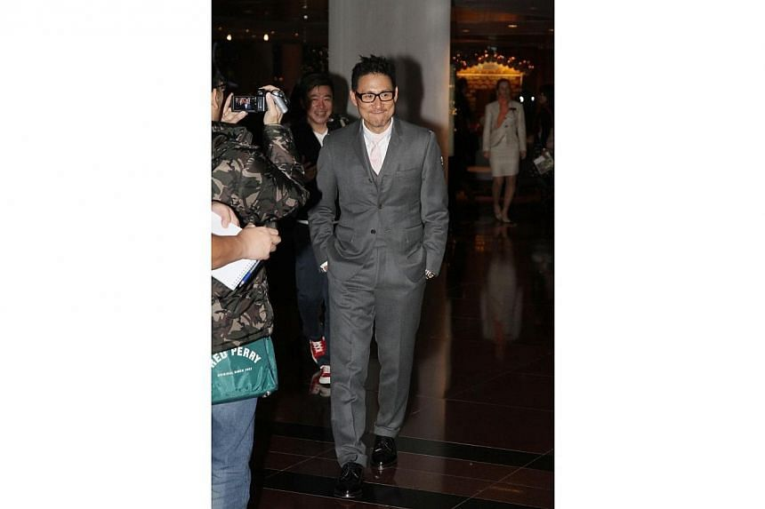 Jacky Cheung at William So's wedding. -- PHOTO: APPLE DAILY