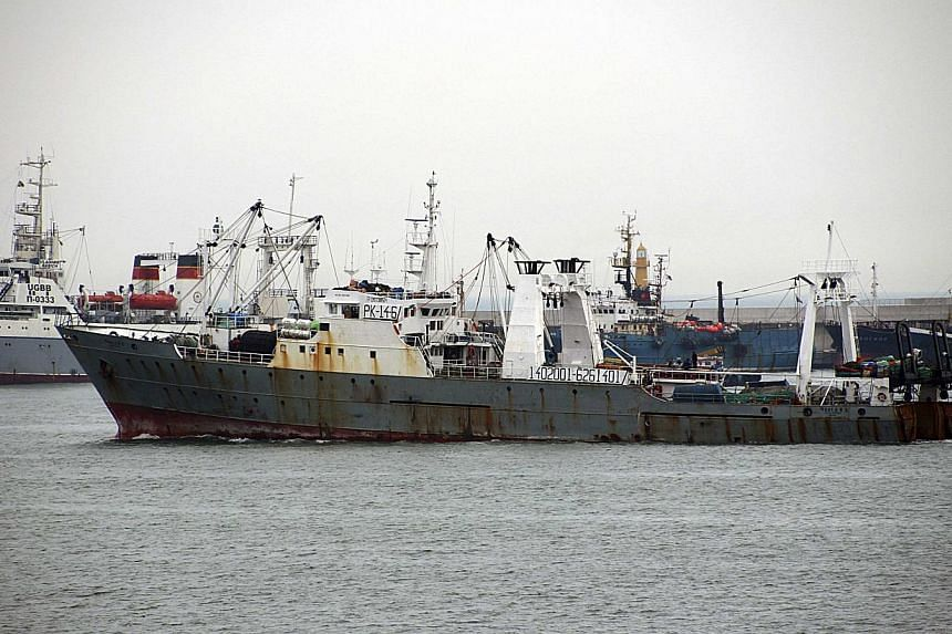 The 1,753-tonne Oryong 501 trawler, with 60 people on board, went down in rough seas on Monday morning. Those on board included 11 South Koreans, 35 Indonesians, 13 Philippine crew members and a Russian identified by Russian news agencies as a fisher