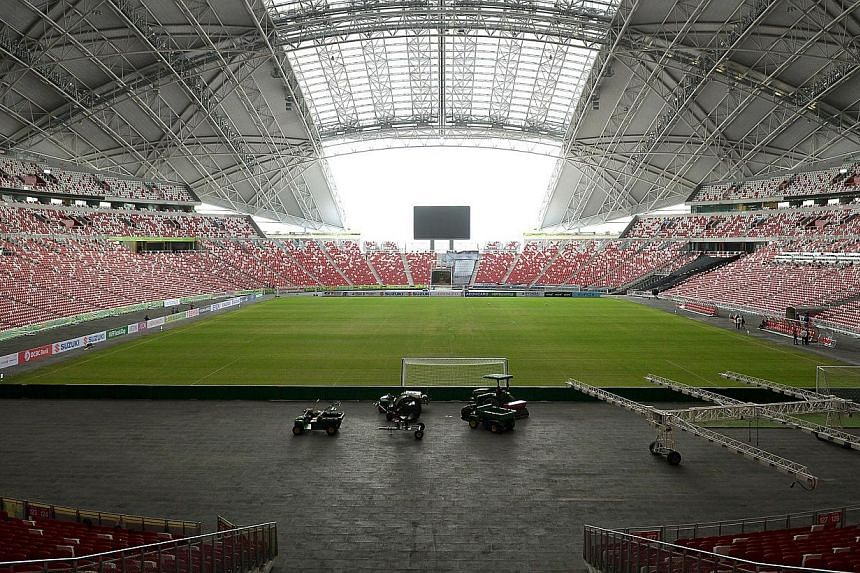 The National Stadium field was panned as substandard when it hosted a Brazil-Japan friendly football match in October.