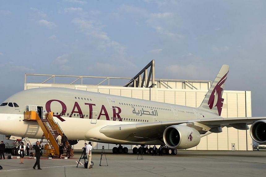 A person familiar with the research said flag carriers Qatar Airlines (above) and Korean Air, US energy firm Calpine Corp, as well as state-controlled oil companies Saudi Aramco and Petroleos Mexicanos (Pemex) were among the specific targets. -- PHOT