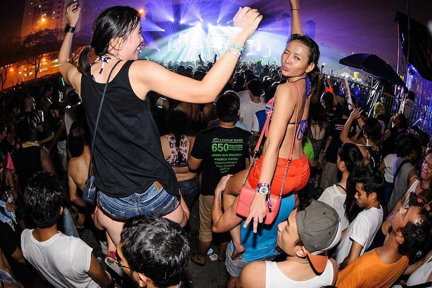 Fans at the Future Music Festival Asia - It's The Ship, a five-day four-night electronic dance music festival that takes place on board the luxury Royal Caribbean cruise ship sailing from Singapore to Langkawi and back.TheFuture Music Festiva