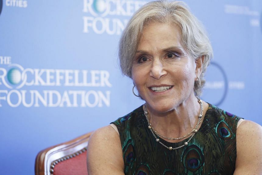 Dr Judith Rodin, president of the Rockefeller Foundation. Singapore will be among 35 cities this year to join the 100 Resilient Cities Challenge - a $100 million initiative started by the philanthropic Foundation. -- PHOTO: THE BUSINESS TIMES