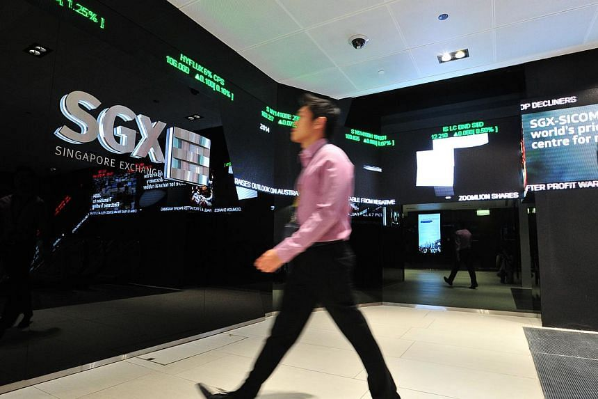 Interior of the SGX Centre, which houses the Singapore Exchange. SGX announced on Wednesday at 4am that the opening of the market will be delayed to 12.30pm later today after a software defect caused a system problem. -- ST PHOTO: LIM YAOHUI
