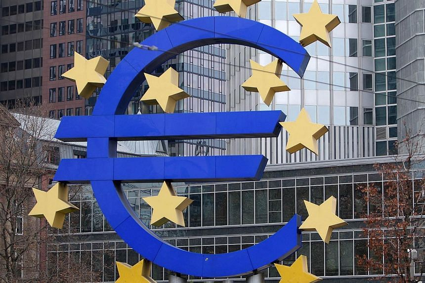The European Central Bank (ECB) will spell out the scale of economic malaise facing the euro zone after it meets on Thursday, under growing pressure to take dramatic action to prevent the bloc going into reverse. -- PHOTO: AFP